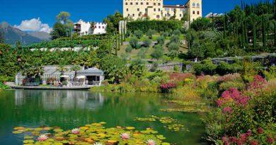 MERANO, Castel Trauttmansdorf la città e i giardini di Sissi
